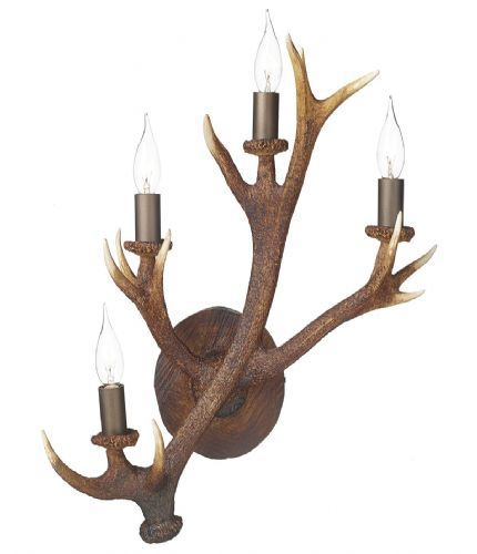Antler Lamp 4 Light Wall Candelabra ANT3049 (7-10 day Delivery) (Class 2 Double Insulated)
